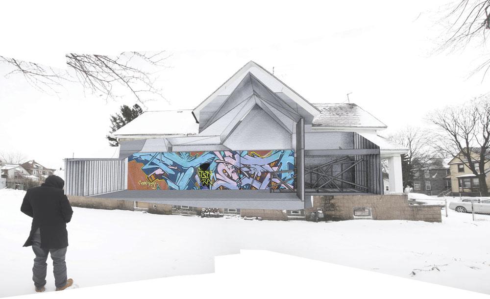 Side-Facade-Montage