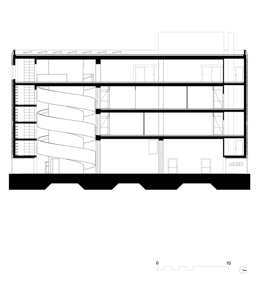 baukuh_house-of-memory_longitudinal-section_scale250