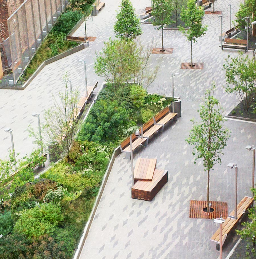 Beekman st plazas urbannext for Garden design ideas new build