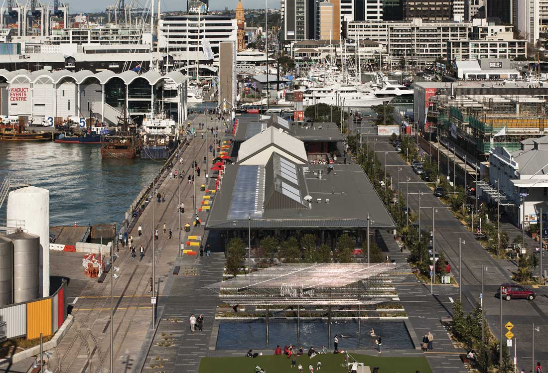 Auckland waterfront hybrid uses for a post industrial for Tcl landscape architects adelaide