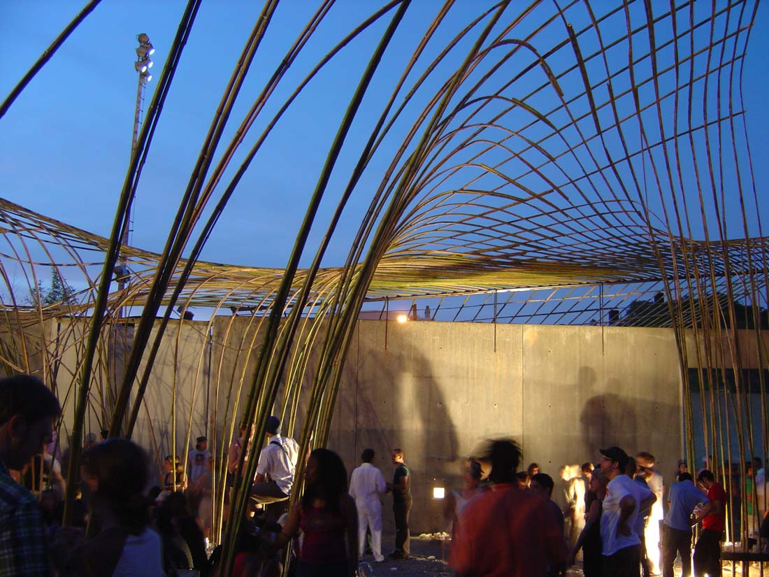 Bamboo Canopy A Digitally Made Leisure Shelter Urbannext